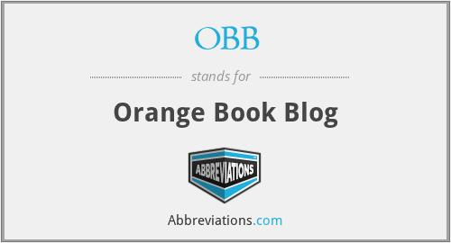 OBB - Orange Book Blog