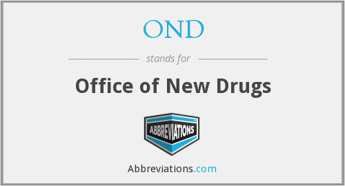 OND - Office of New Drugs