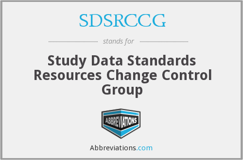 SDSRCCG - Study Data Standards Resources Change Control Group