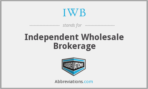 IWB - Independent Wholesale Brokerage