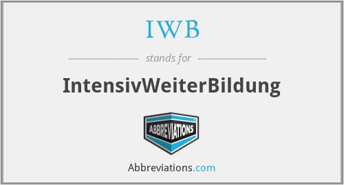 IWB - IntensivWeiterBildung