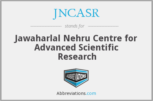 What does JNCASR stand for?