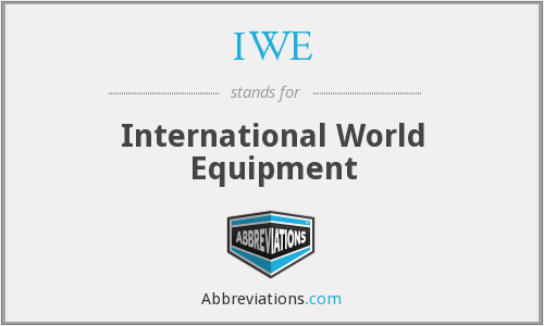 IWE - International World Equipment