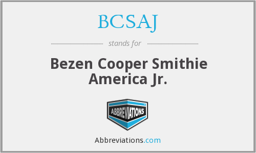 BCSAJ - Bezen Cooper Smithie America Jr.