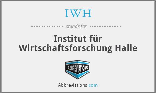 IWH - Institut für Wirtschaftsforschung Halle