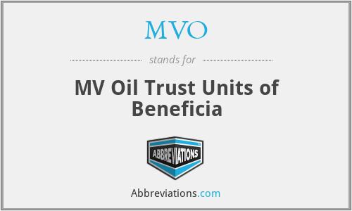 MVO - MV Oil Trust Units of Beneficia