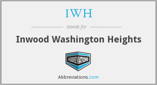 IWH - Inwood Washington Heights