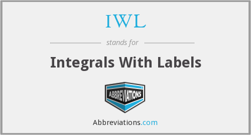 IWL - Integrals With Labels