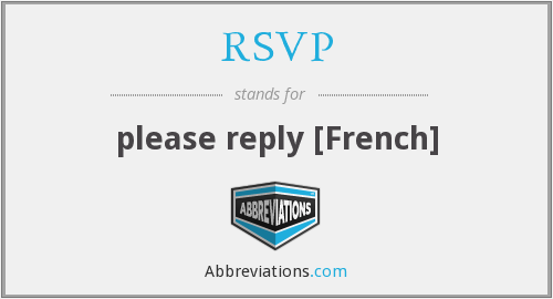 What does RSVP stand for?