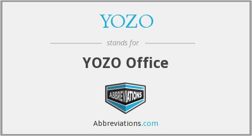 What does YOZO stand for?