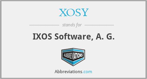XOSY - IXOS Software, A. G.