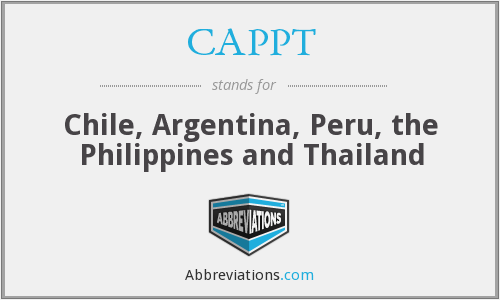 What does CAPPT stand for?