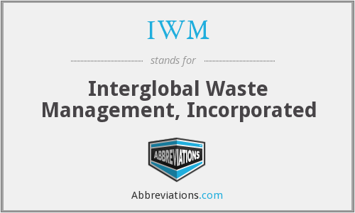 IWM - Interglobal Waste Management, Inc.