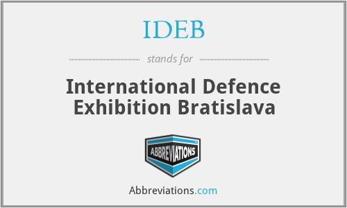 IDEB - International Defence Exhibition Bratislava