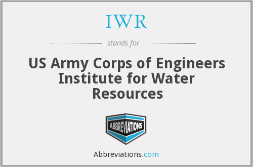 IWR - US Army Corps of Engineers Institute for Water Resources