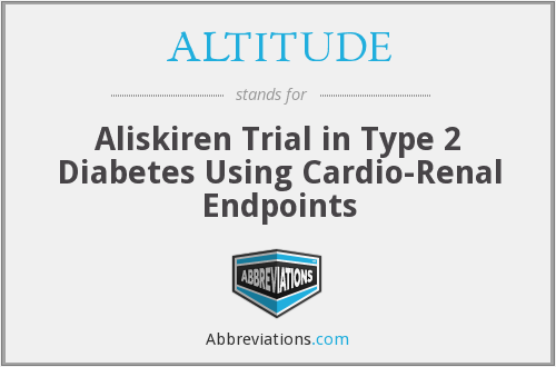 ALTITUDE - Aliskiren Trial in Type 2 Diabetes Using Cardio-Renal Endpoints