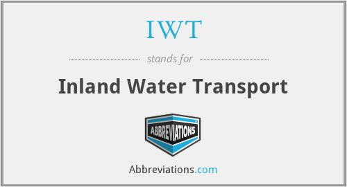 IWT - Inland Water Transport