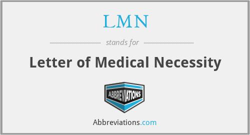 LMN - Letter of Medical Necessity