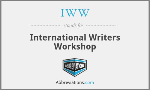 IWW - International Writers Workshop