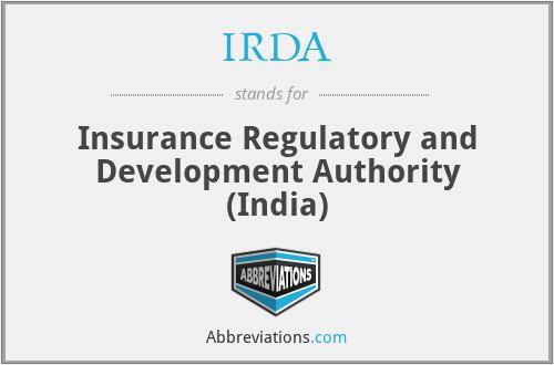 IRDA - Insurance Regulatory and Development Authority (India)