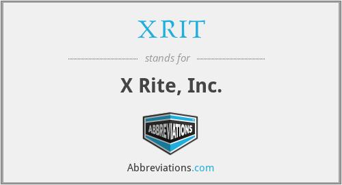 XRIT - X Rite, Inc.