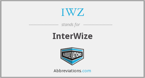 What does IWZ stand for?
