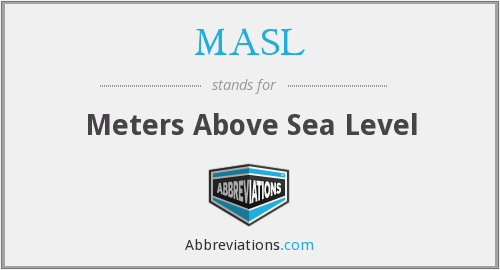 What does MASL stand for?