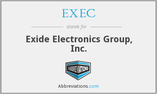 XUPS - Exide Electronics Group, Inc.