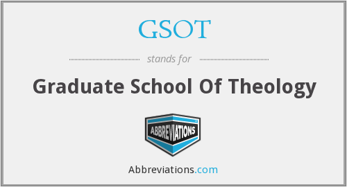 GSOT - Graduate School Of Theology