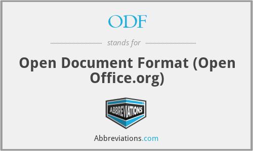 ODF - Open Document Format (Open Office.org)
