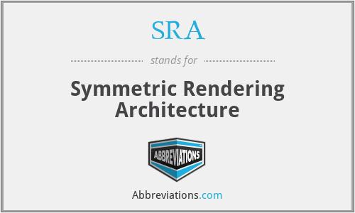 SRA - Symmetric Rendering Architecture