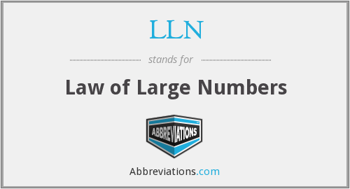 LLN - Law of Large Numbers