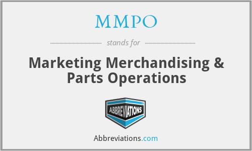 MMPO - Marketing Merchandising & Parts Operations