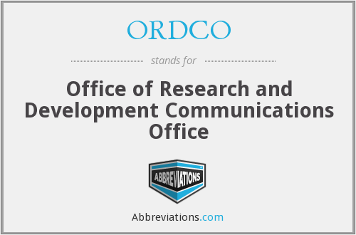 What does ORDCO stand for?