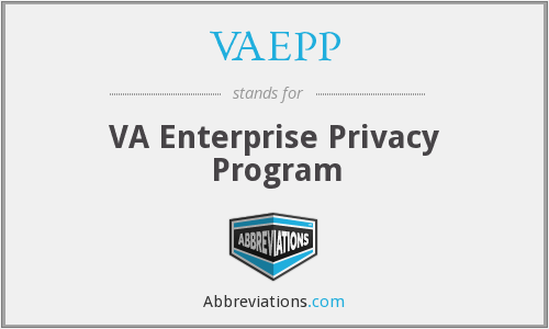 VAEPP - VA Enterprise Privacy Program