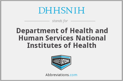 What does DHHSNIH stand for?