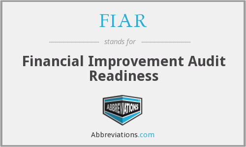 FIAR - Financial Improvement Audit Readiness