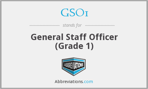 What does GSO1 stand for?