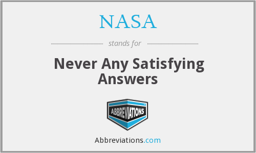 What does NASA stand for?