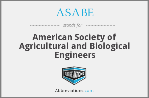 What does ASABE stand for?
