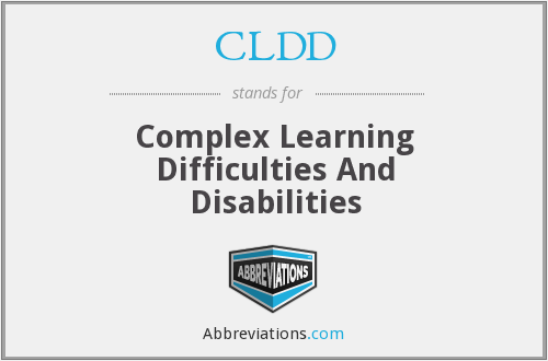 CLDD - Complex Learning Difficulties And Disabilities