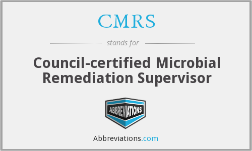 CMRS - Council-certified Microbial Remediation Supervisor