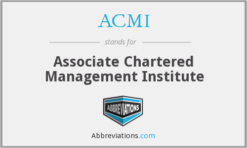 ACMI - Associate Chartered Management Institute
