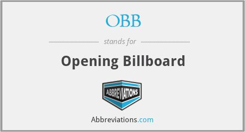 OBB - Opening Billboard