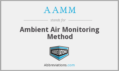 AAMM - Ambient Air Monitoring Method