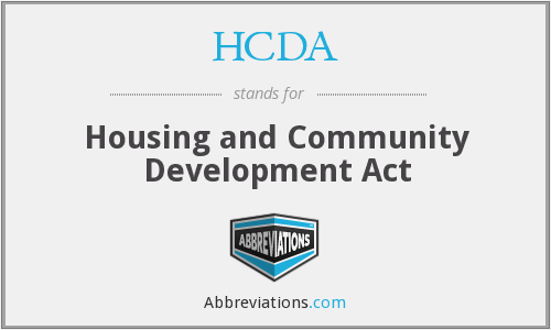 What does HCDA stand for?