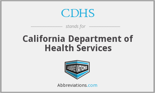 CDHS - California Department of Health Services