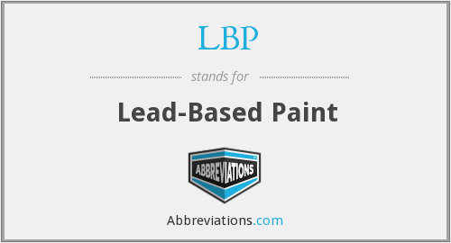 LBP - lead-based paint
