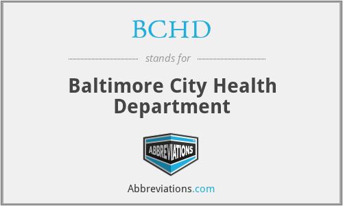 BCHD - Baltimore City Health Department