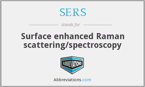 SERS - Surface enhanced Raman scattering/spectroscopy
